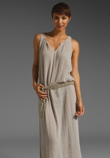GRAHAM & SPENCER Cheesecloth Maxi Tank Dress in Cloudy at Revolve Clothing - Free Shipping!