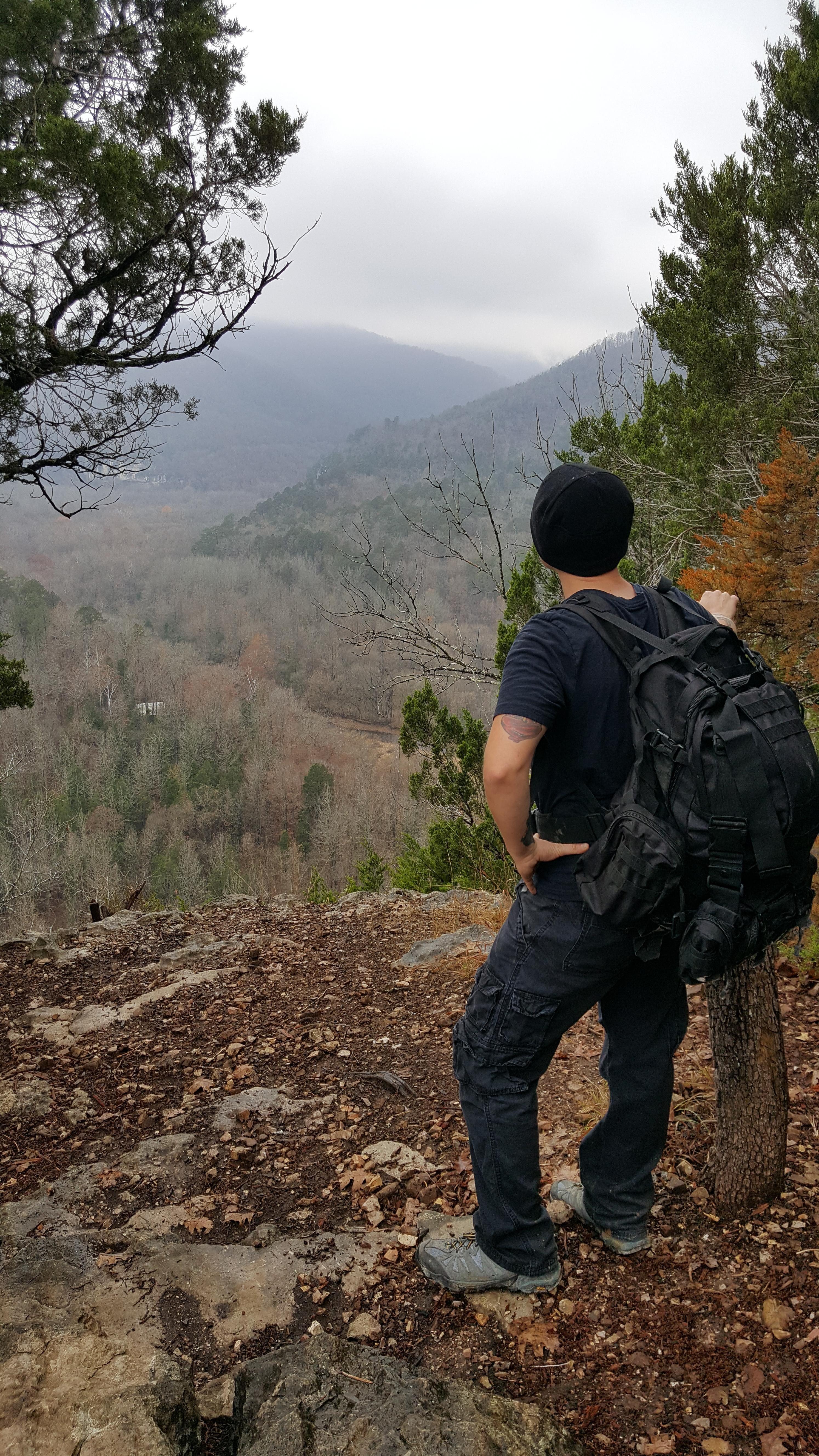 Steel creek hike near fayetteville arkansas in my ninja