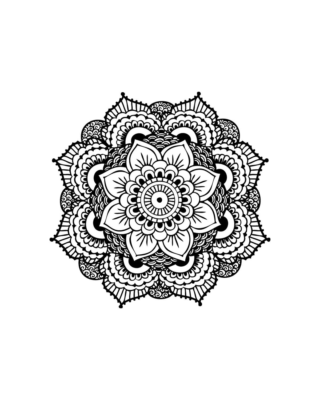 Mandala Temporary Tattoo - Set of 2 - Gift for Her - Yoga Gift ...