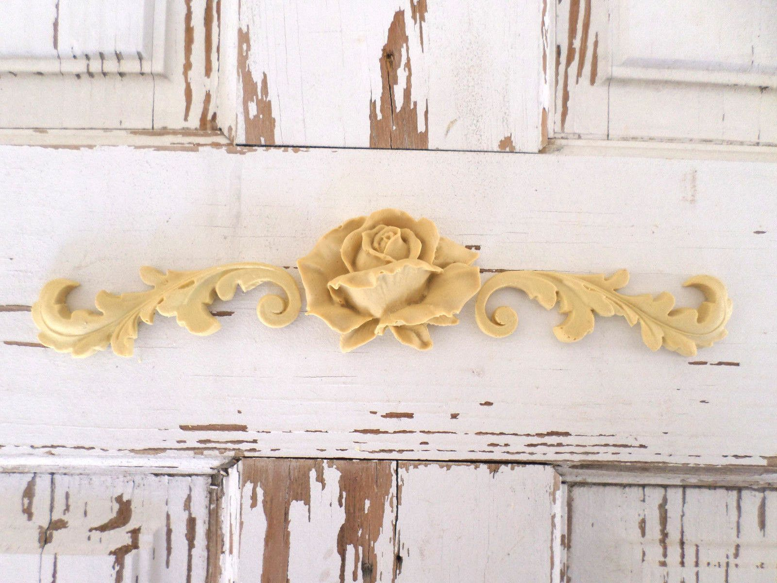 $13 5 Rose Architectural Furniture Appliques lays Wood Resin