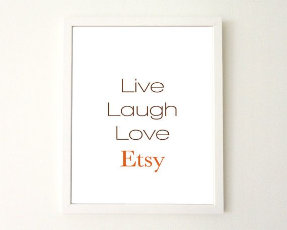 Printable art Live Laugh Love Etsy home decor by AvenirCards, $6.00
