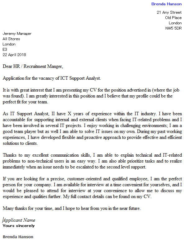 Image result for ict example of cover letter cover letter pinterest image result for ict example of cover letter altavistaventures Gallery