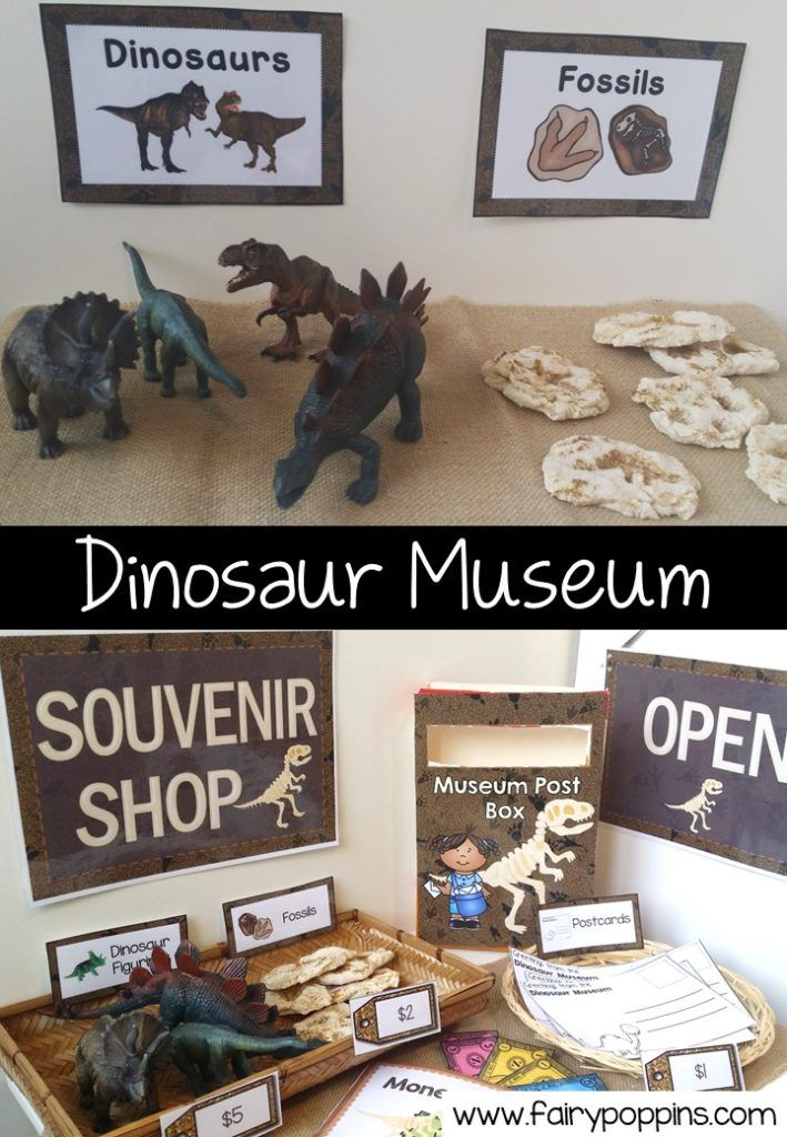 Dinosaur Museum & Shop Dramatic Play #dinosaur
