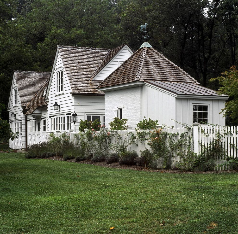 White house exterior traditional with cedar shingles white for Cedar shake cottage