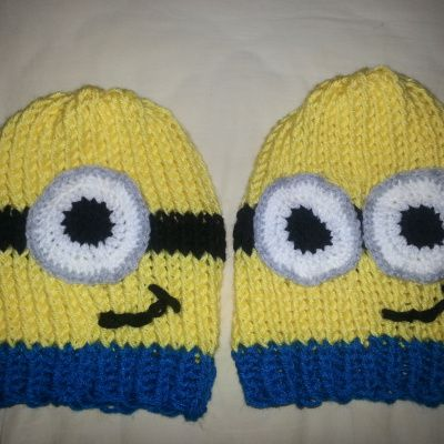 Loom Knit Minion Hats … | Pinteres…