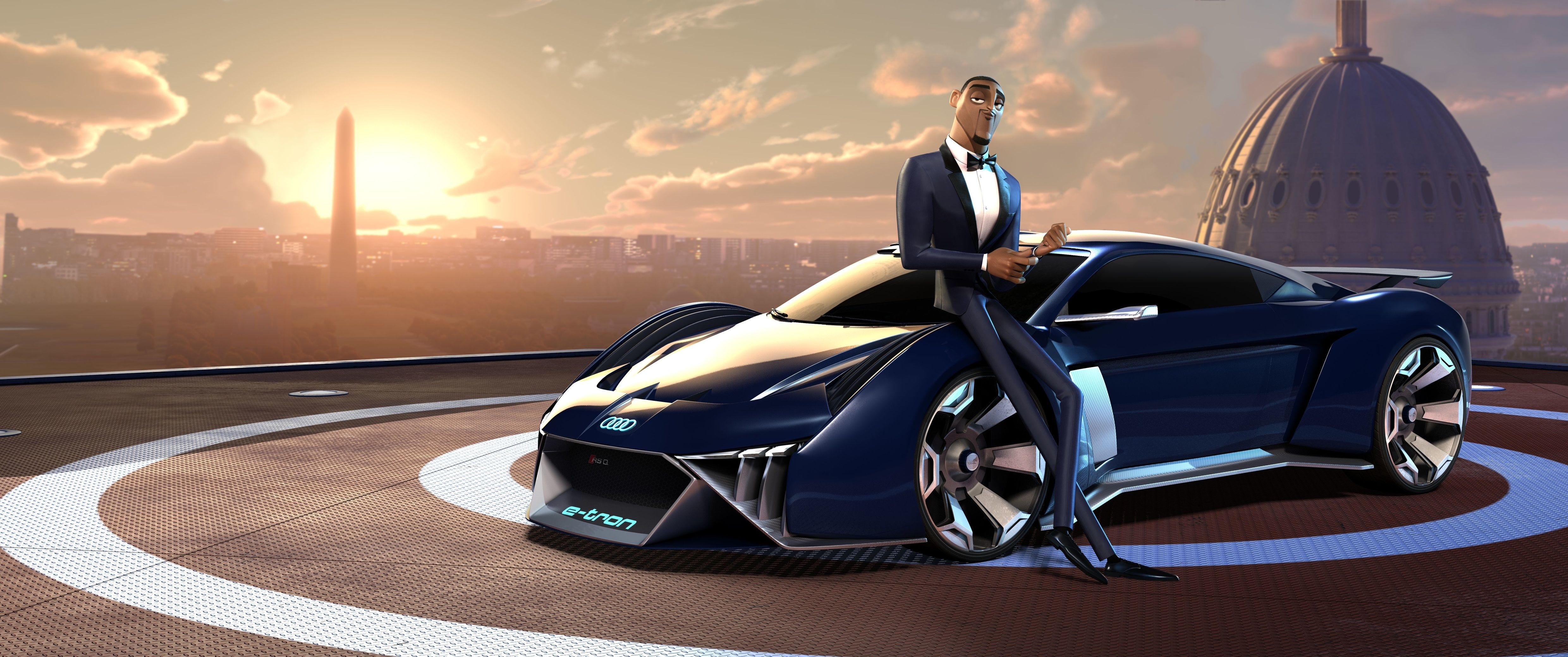 Will Smith Is About To Get Jiggy With Audi S First Animated Concept The Rsq E Tron Top Speed E Tron Blue Sky Studios Super Cars