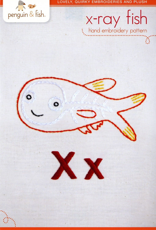 X-Ray Fish Embroidery Pattern