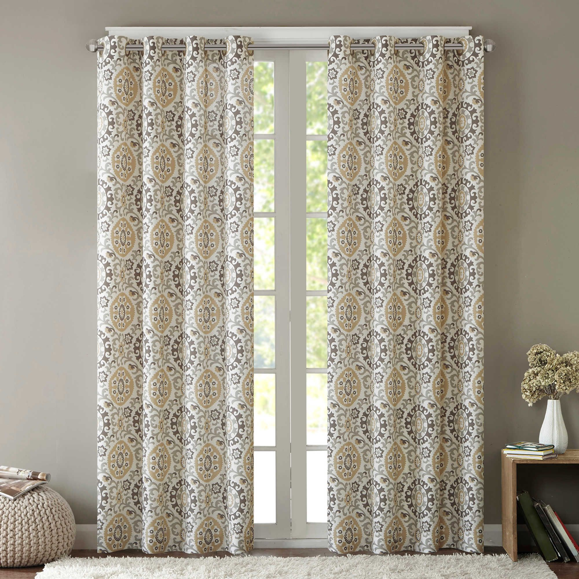 Intelligent Design Seville 63 Inch Grommet Top Window Curtain Panel In Taupe