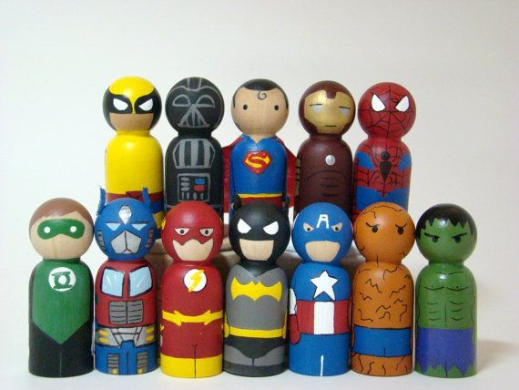 More super hero peg people. is creative inspiration for us. Get more photo about DIY home decor related with by looking at photos gallery at the bottom of this page. We are want to say thanks if you like to share this post to another people via your facebook, pinterest, …