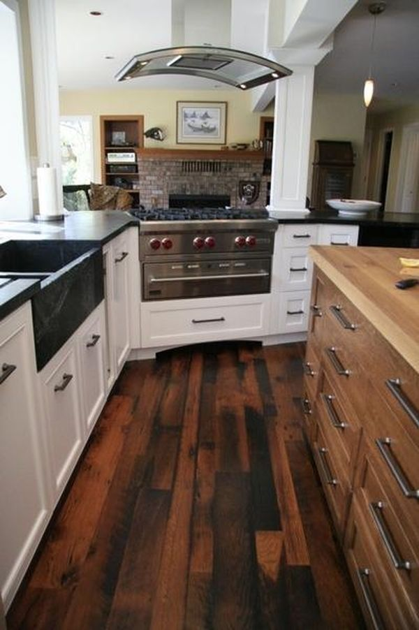 Reclaimed wood flooring \u2013 an eco-friendly option that comes with many advantages   Kitchen wood Traditional kitchen and Woods & Reclaimed wood flooring \u2013 an eco-friendly option that comes with ...