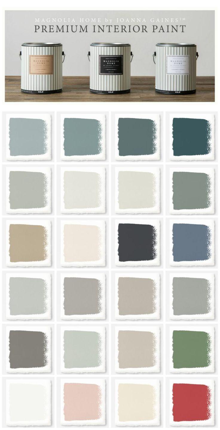 New Magnolia Home Paint Collection Magnolia Homes Paint Paint Color Chart Joanna Gaines Paint