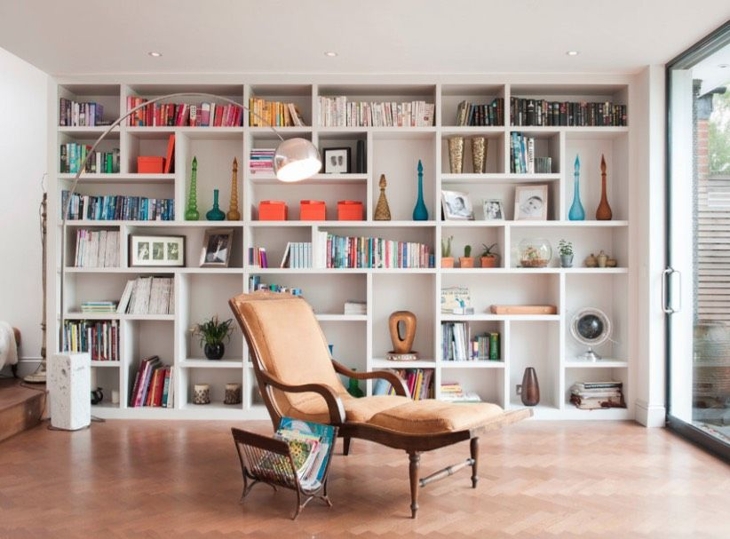 How To Declutter 5 Home Clutter Culprits To Fix Before And After You Move Https Freshome Com Moving How To De Built In Bookcase Living Room Shelves Home