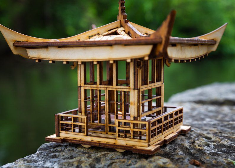 Japanese Pagoda Lantern A Mini 3d Kit Tea Light Candle Holder To Get Peace Love And Zen Back Into Your Busy Life Japanese Pagoda Pagoda Lanterns Tealight Candle Holders
