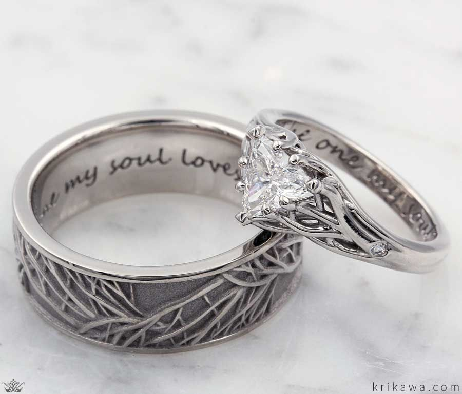 Tree Of Life Engagement Rings In 2020 Gold Diamond Wedding Band