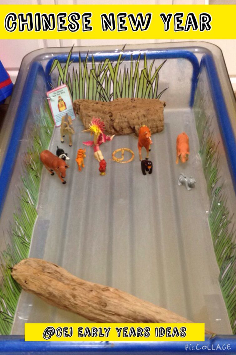 Small world water tray … Chinese new year crafts