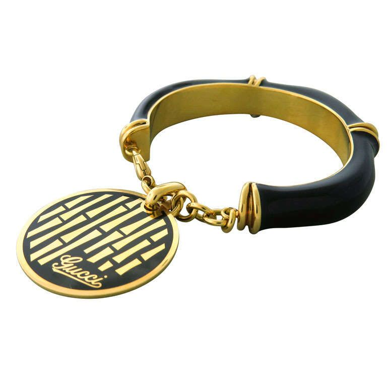 ca30dae6c Gucci Gold Bamboo Charm Bracelet | From a unique collection of vintage  bangles at https: