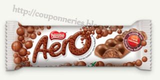 Coupons et Circulaires: .44¢ AERO Barres de Chocolat
