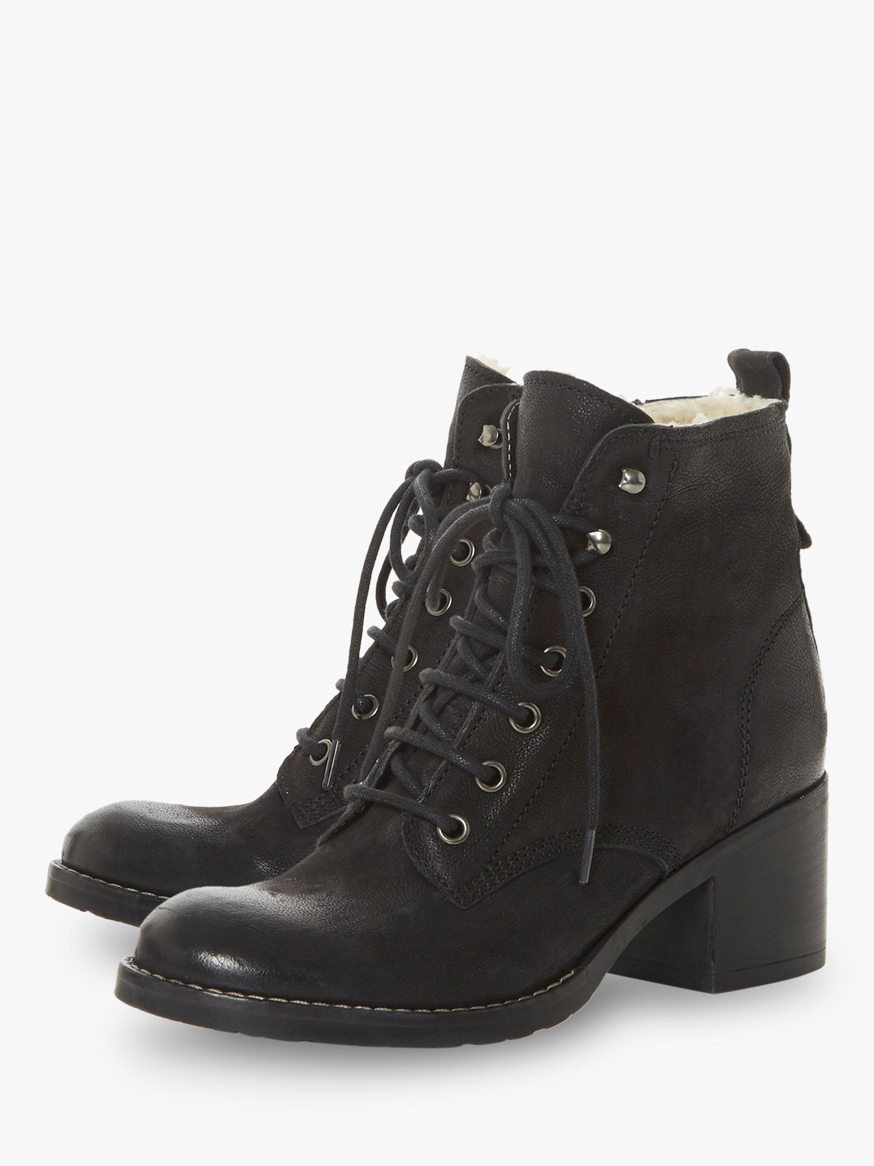 Dune Patsie D Leather Lace Up Ankle