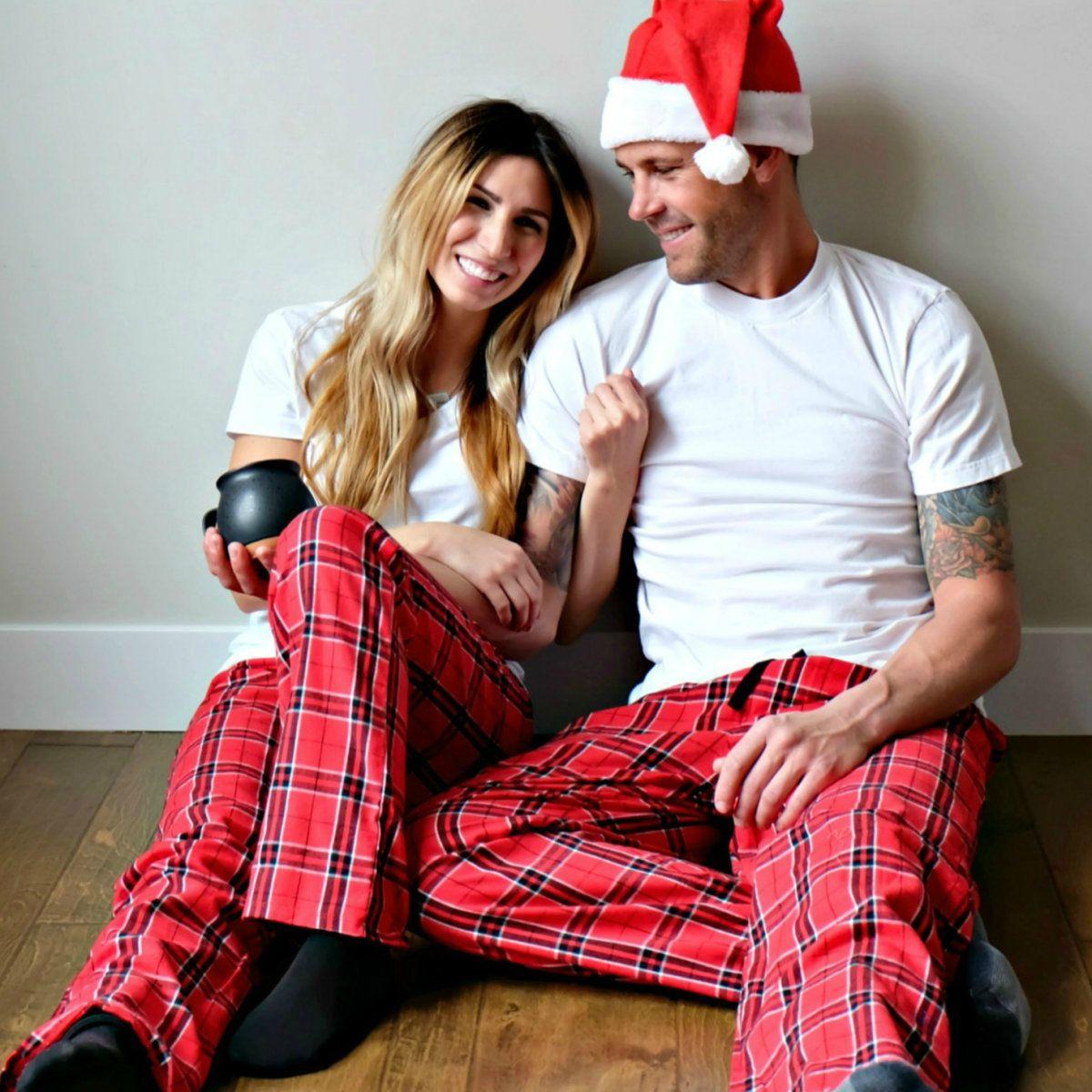 His And Hers Matching Christmas Pajamas: Flannel Christmas Pajamas