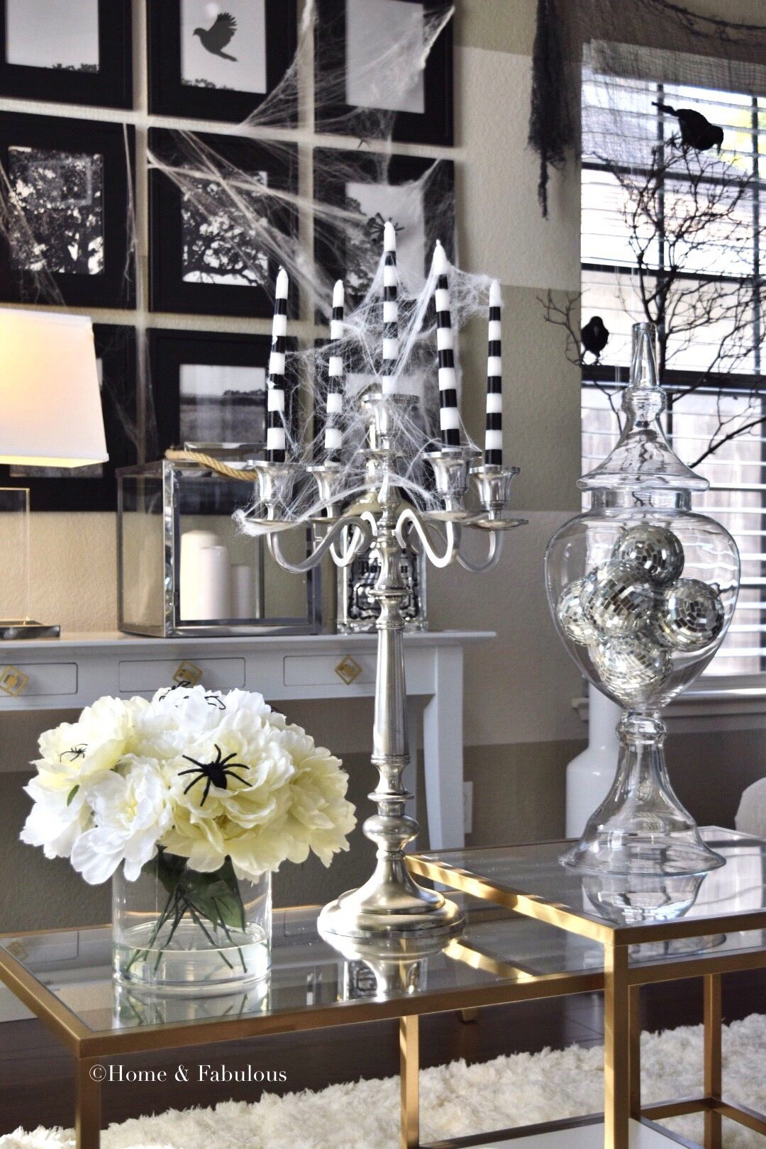 this candelabra from homegoods is perfect all year round add some cobwebs for halloween and