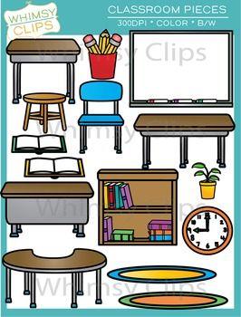 Classroom Pieces Clip Art In 2020 Classroom Furniture Classroom Classroom Clipart