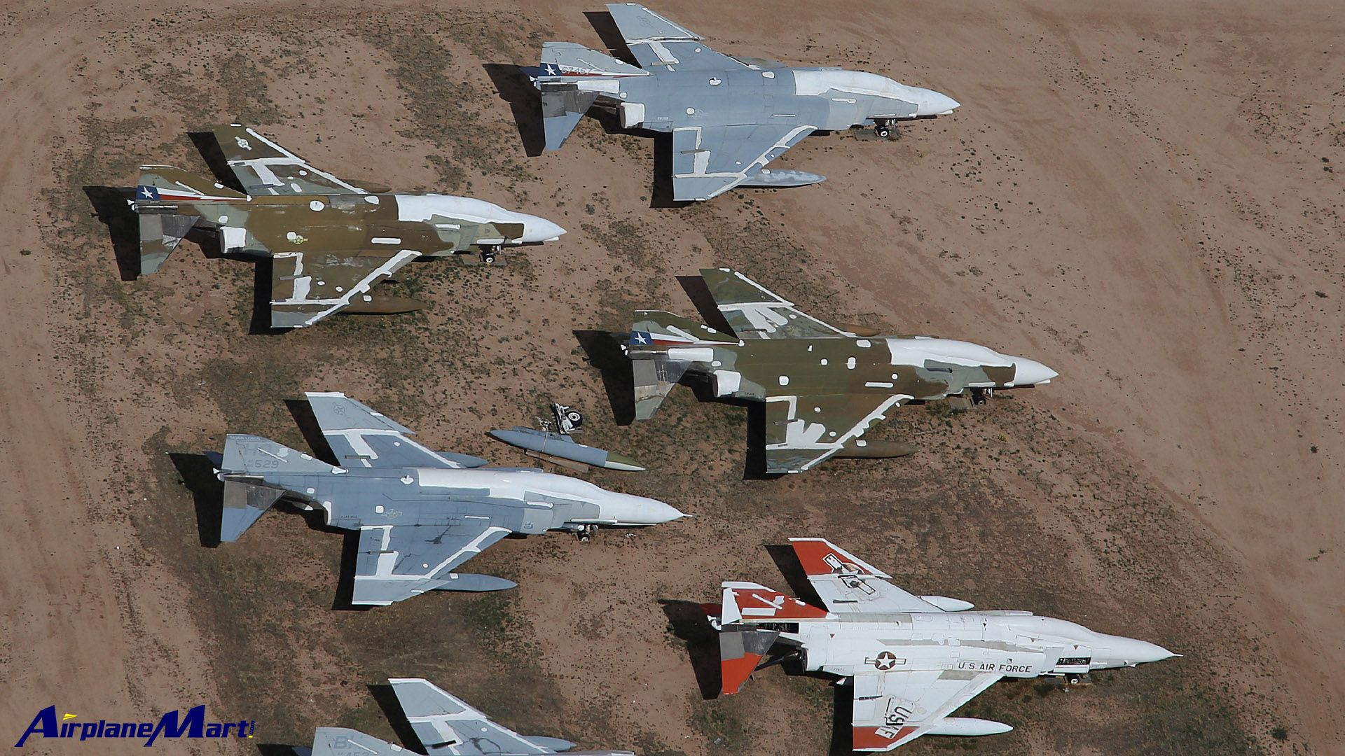 Military Aircraft Graveyard F 4 Phantoms Davis Monthan Air