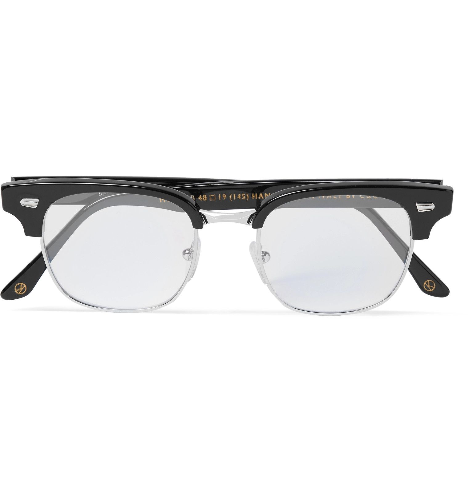 24ac22ac0f Kingsman - + Cutler and Gross Merlin s Square-Frame Acetate and Silver-Tone Optical  Glasses