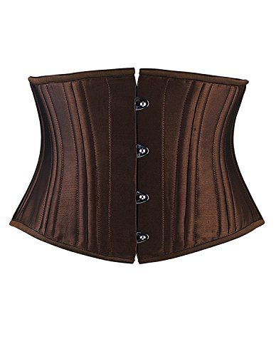 1dc3e93b9a Burvogue Womens Steel Boned Waist Trainer Short Torso Corset Medium 20  double steel bone brown -- Read more reviews of the product by visiting the  link on ...