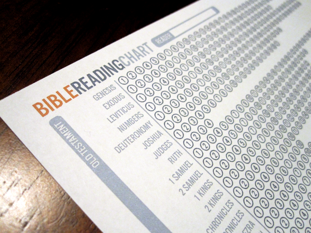 Bible Reading Chart This Folds Into A Bookmark For Your Bible I Print Off A New One Each Year