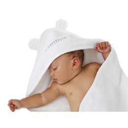Personalised white hooded towel with ears personalized baby personalised white hooded towel with ears hooded towelsbaby giftsears negle Image collections
