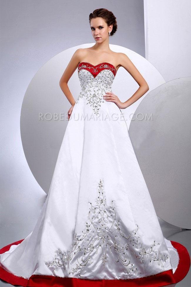 promo no l 40 robe de mari e pincesse rouge et blanche autres coule robe de mari e pas. Black Bedroom Furniture Sets. Home Design Ideas