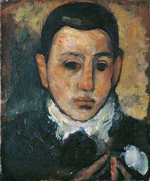 Arshile Gorky, Self Portrait At The Age Of Nine, 1928 davidcharlesfoxexpressionism.com #arshilegorky #selfportraitattheageofnine #abstractexpressionism #expressionism #expressionist #abstract