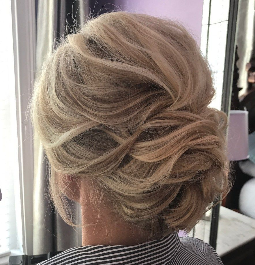 Effortless Bridesmaid Upstyles: Low Dimensional Bouffant Updo #weddinghairstyles
