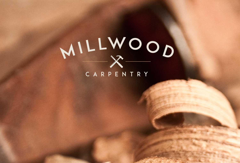 Professional Logo Design For Bespoke Carpentry Startup Business Millwood Carpentry Based In Cardiff Wales Branding Design Logo Construction Logo Wood Logo