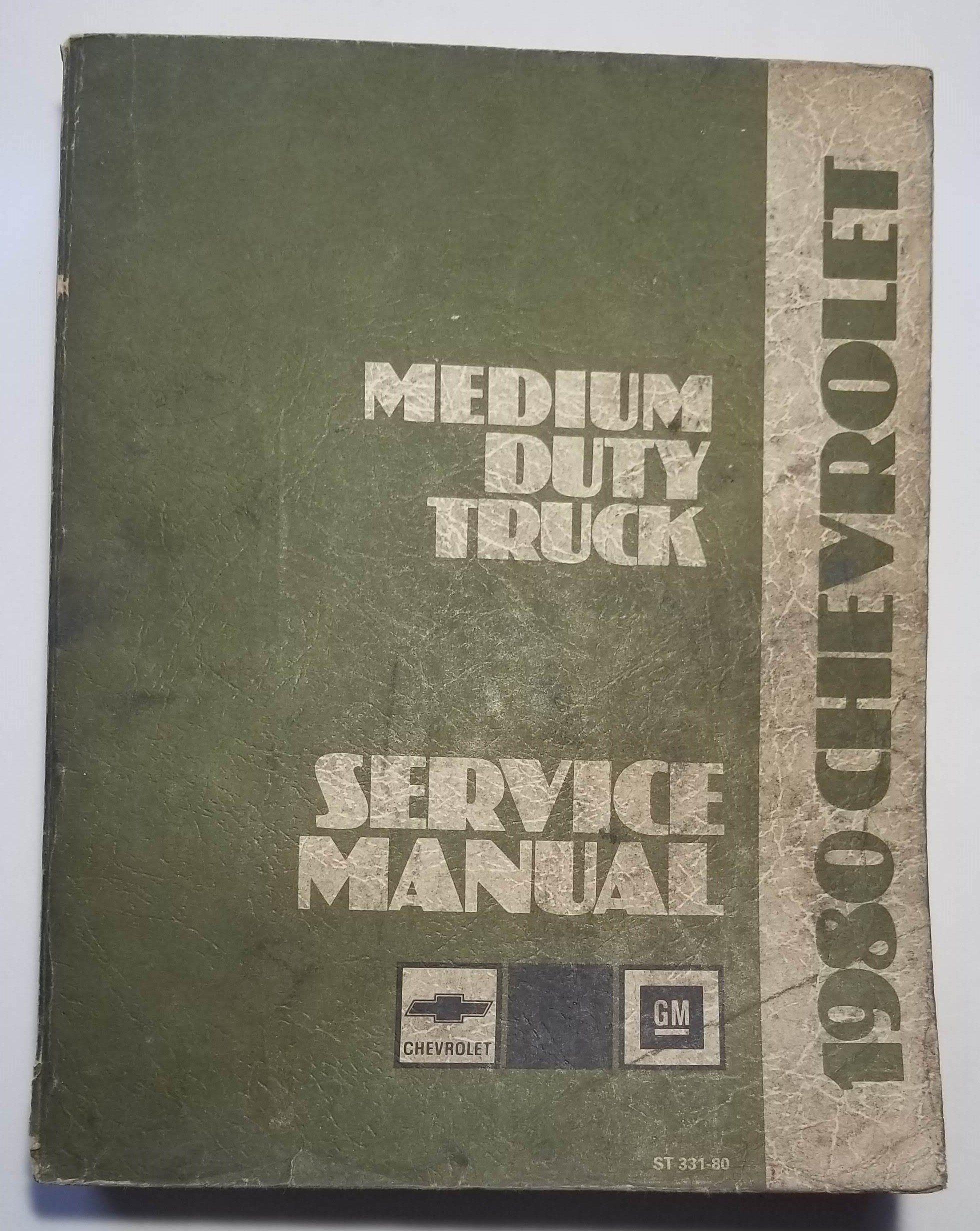 1980 Chevrolet Medium Duty Truck Service Manual Vintage ST331-80 by  VannaBsVintage on Etsy