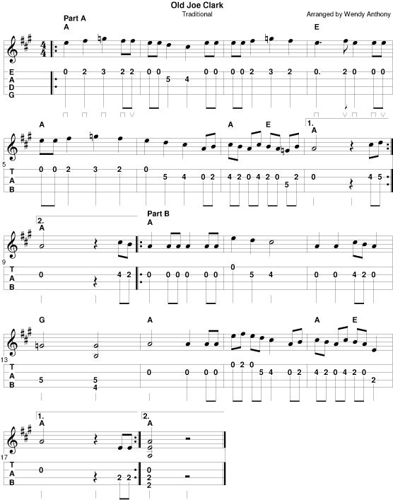 Old Joe Clark notes/tab | tabs | Pinterest | Clarks, Mandolin and Banjo