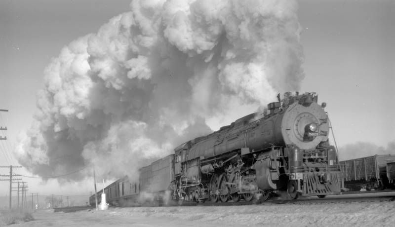 Santa Fe 5011 Class 2 10 4 5021 Gets The Second Section Of The Grand Canyon Limited Underway In December 1945 While Pr Train N Scale Model Trains Steam Trains