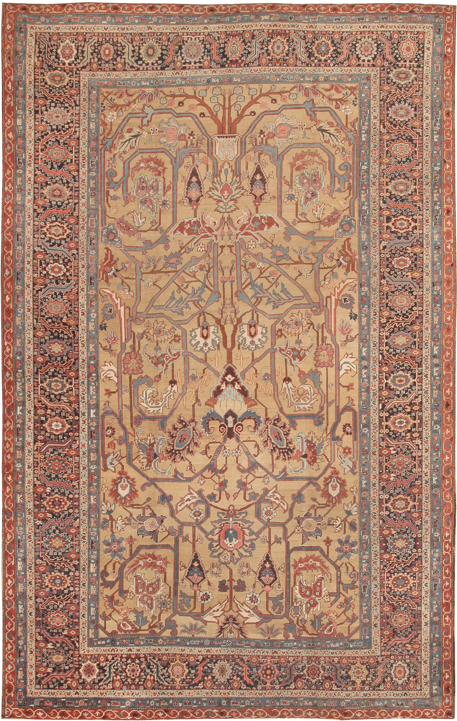 Antique Bakshaish Persian Rug 41787 Main Image By Nazmiyal With