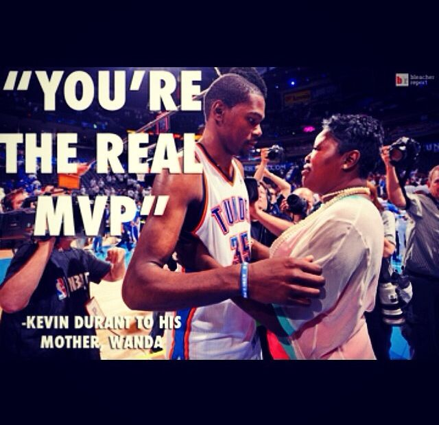 "James Harden Mvp Speech: ""You're The Real MVP"" -Kevin Durant To His Mother"