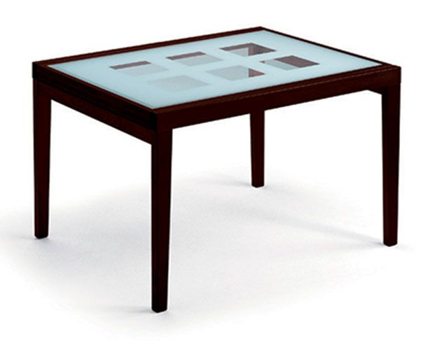 Poker 120 Extendable Glass Table Wenge W Extension By Esf In 2020