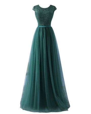 d19fda2c60cb YipGrace Donna Tulle Eleganti Lunghi Ball Gown Abito In Pizzo  Amazon.it   Sport e tempo libero