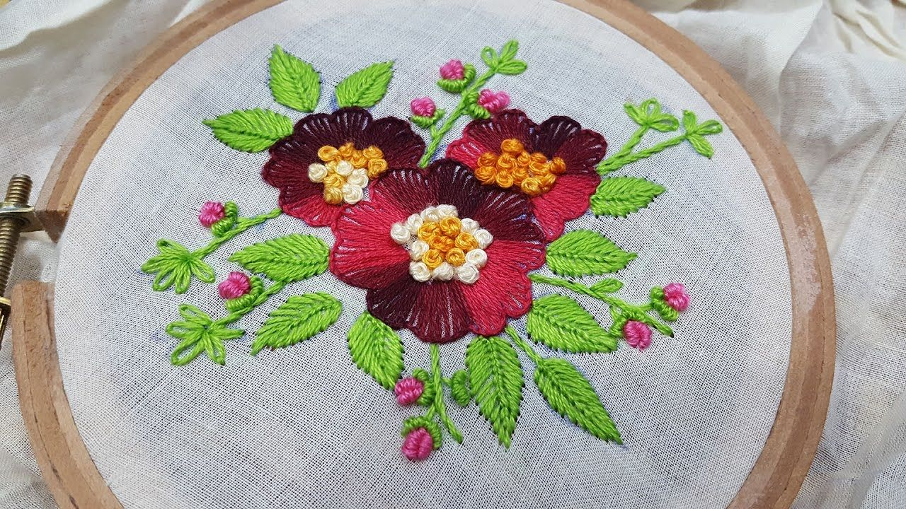 Button Hole Stitch Flower Stitch Hand Embroidery Embroidery