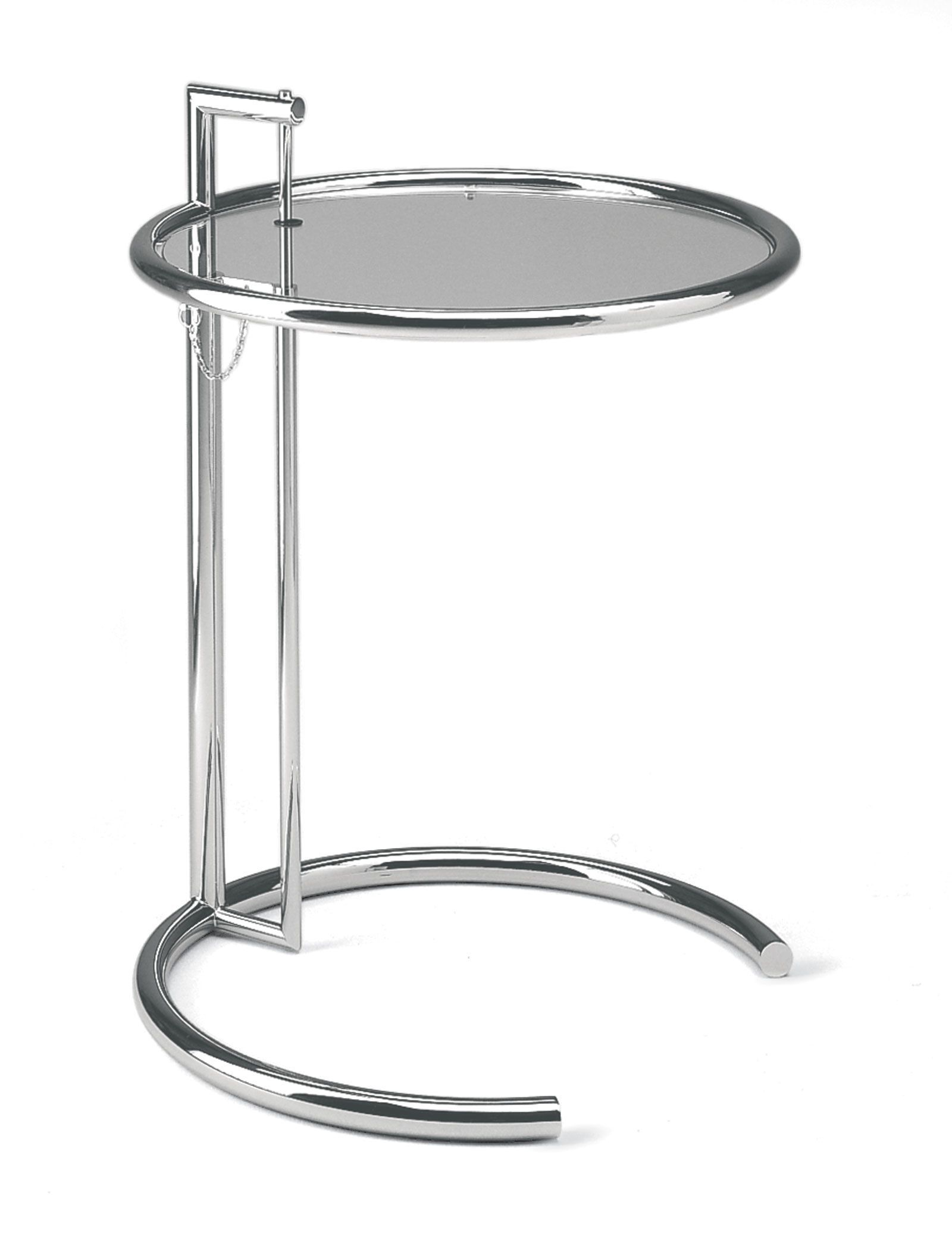 Eileen Gray Tisch Eileen Gray Adjustable Height Cocktail Table With Tubular Polished