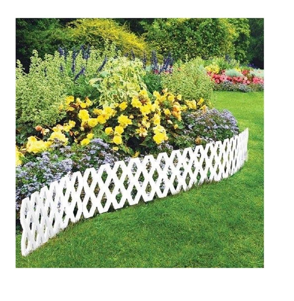 13 99 4 Pc Garden Lattice Outdoor Flexible Weatherproof Plastic Edging Border Fencing Ebay Home Plastic Garden Edging Garden Edging Front Yard Landscaping