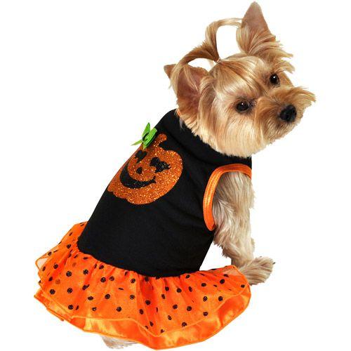 Walmart Simplydog Pumpkin Dog Dress Multiple Sizes Available Dog Dresses Pet Halloween Costumes Dog Pumpkin