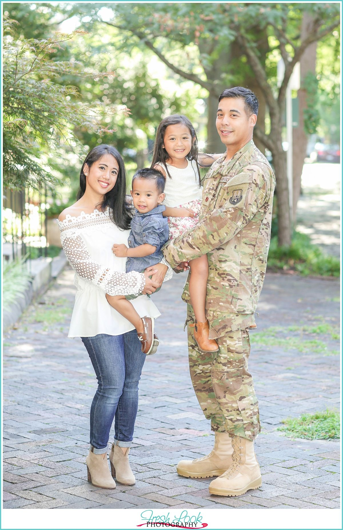 Air Force Family Photo Shoot with Operation Love Reunited