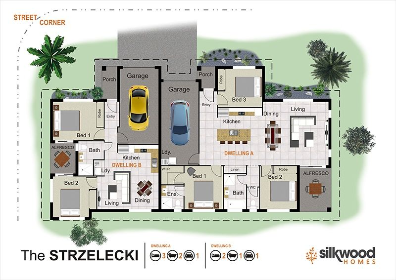5 Bedrooms Dual Living For Sale 3 Bathrooms Listing Id Undefined Dual Occupancy Duplex Floor Plans House Design