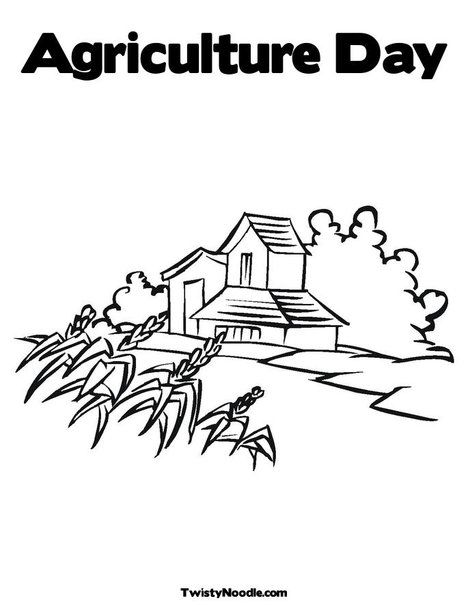 Agriculture Day Coloring Page | Homeschool - Agriculture | Pinterest ...
