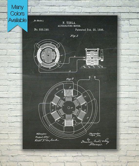 Alternating motor patent blueprint art tesla art tesla patent alternating motor patent blueprint art tesla art tesla patent electric motor malvernweather Choice Image