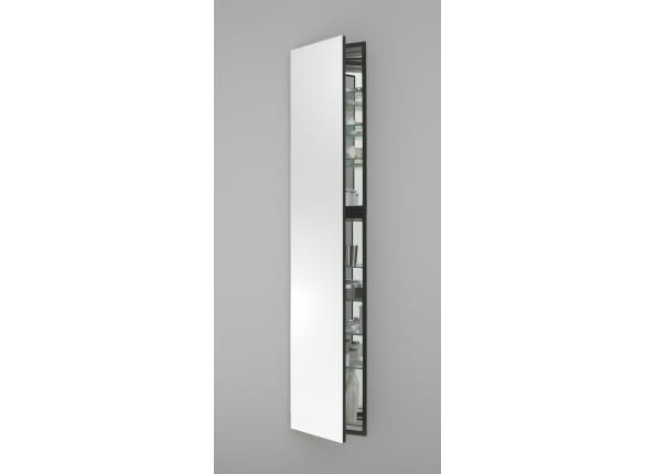 Tall recessed medicine cabinet m series cabinet white for Tall mirrored bathroom cabinet